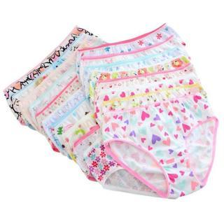 6pcs Baby Kids Girls Underpants Soft Cotton Panties Child Underwear Short Briefs