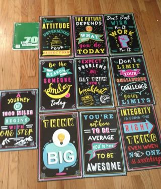 10 New large motivational posters / pictures for teen or great  present for teacher