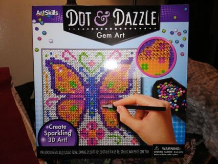 DOT AND DAZZLE GEM ART=FREE SHIPPING