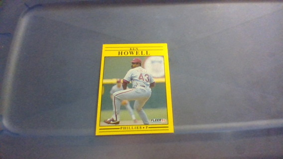 1991 Fleer- Phillies- Ken Howell
