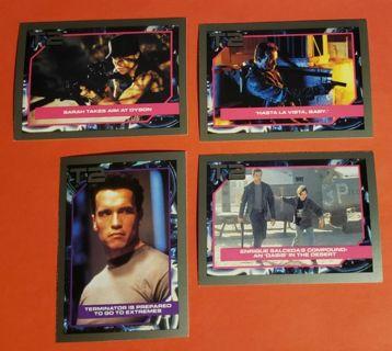 4 Vintage Impel Terminator 2 Movie Cards (1991) Lot # 4 Arnold Schwarzenegger Linda Hamilton