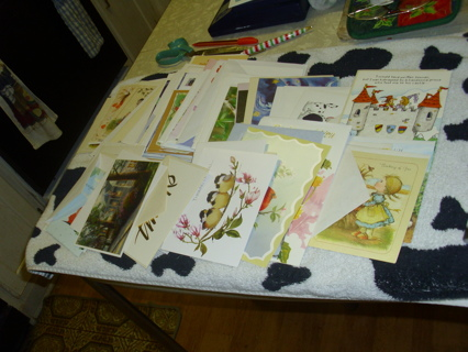 Huge Random Lot of Assorted New & Vintage Greeting Cards Birthday, Get well everything!