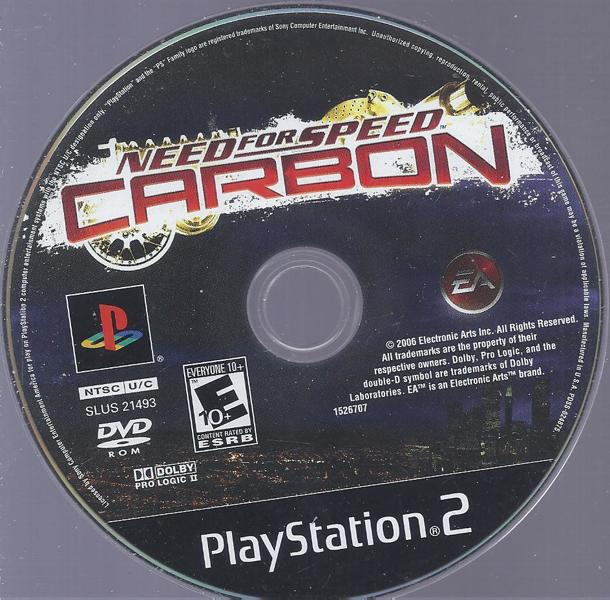 Free Ps2 Game Disc Only Need For Speed Carbon Playstation
