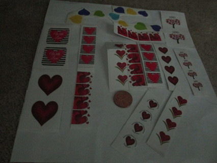 48 heart stickers