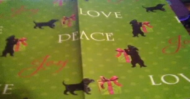 Christmas Sheet Design Dog Christmas Wrapping Paper