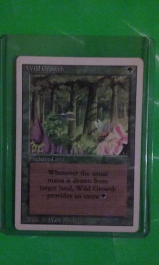 mtg ccg  rev card  wild growth  free shipping
