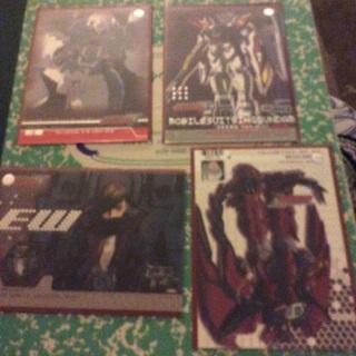 Gundam wing trading cards