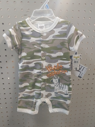 NWT! C J P Baby Boys Onesie Size: 3-6mths 60% Cotton 40% polyester