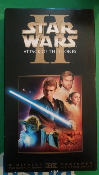 vhs star wars attack of the clones free shipping