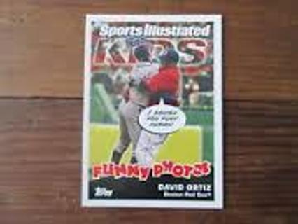 David Ortiz - 2006 Topps Sports Illustrated Kids #21 - NICE INSERT CCARD - RED SOX STAR - MINT