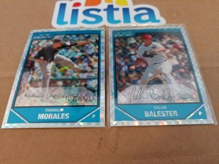 FRANKLIN MORALES⭐ COLLIN BALESTER⭐2007 BOWMAN CHROME DRFT PROSPECTS⭐XFRACTOR⭐ FREE $HIPPING