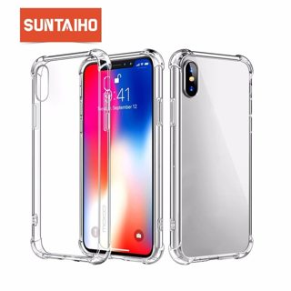 Suntaiho Phone Case For iPhone 7 8 Plus Transparent Anti-knock Cases For iPhone X 8 7 6 6S Plus Soft