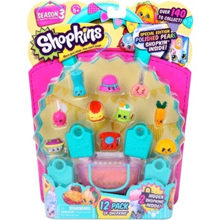 FREE LIMITED EDITION Shopkins Season 3 12 Pack