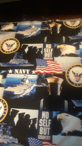 Navy Cotton Fabric 12 1/2 x 12 - Qty 2