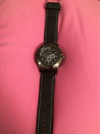 Watch with USB rechargeable cigarette lighter