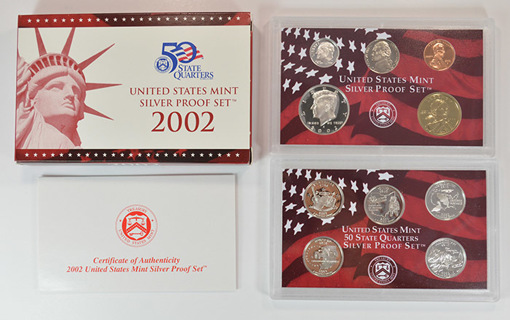 90% Silver 2002-S 10 Coin U.S. Proof Mint Set