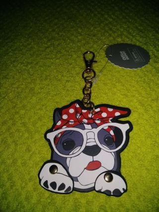 ❤✨❤✨❤BRAND NEW FRENCH BULLDOG WITH SCARF & MOVABLE HANDS KEYCHAIN❤✨❤✨❤ONLY 1!