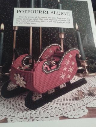 plastic canvas potpourri sleigh pattern