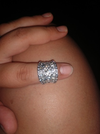 Exquisite 925 Sterling Silver Plated Ring 2.30CT White Sapphire Diamond