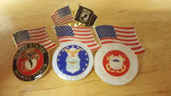 (4) MILITARY HAT PINS