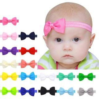 Lovely Baby Kids Girls Mini Bowknot Hairband Elastic Headband special occasions photo  headbands b