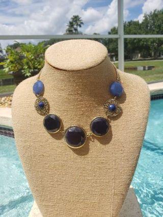 NY blue statement necklace nice ❤️