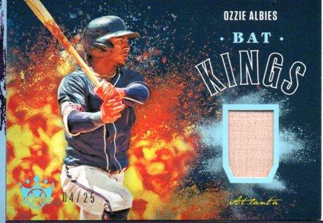 2020 Panini Diamond Kings Ozzie Albies Bat Kings 4/25