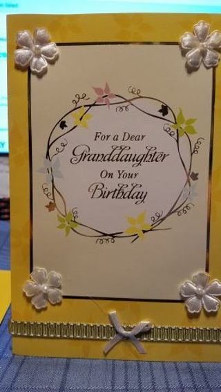 HAPPY BIRTHDAY TO A DEAR GRANDDAUGHTER CARD W/ ENVELOPE