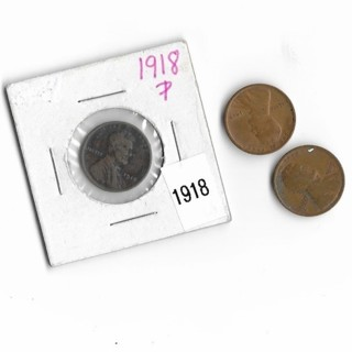 1917,1918,1919 wheat cents