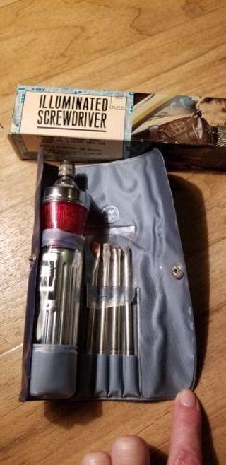 Vintage illuminated screwdriver