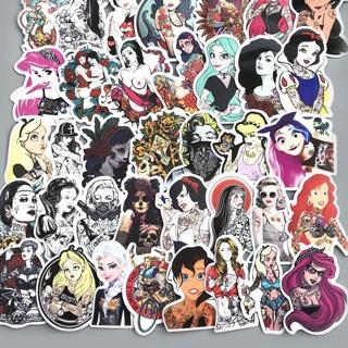 50Pcs/Lot Styling Pvc Waterproof Sexy Beauty Tattoo Girls Stickers