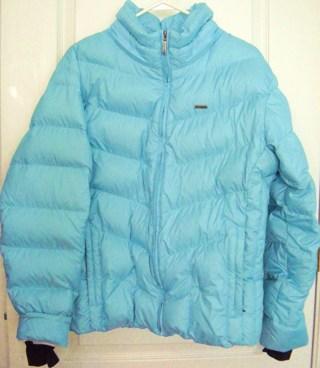 Free: Womens COLUMBIA Light Blue Down Jacket Coat Sz XL Faux Fur ...