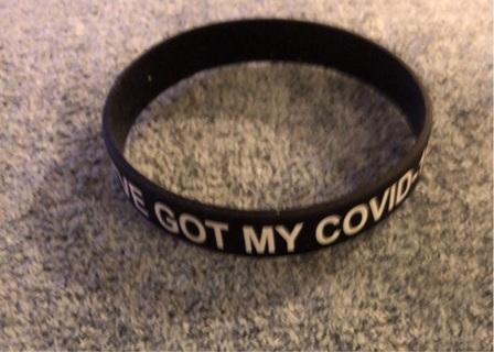"Brand New: Black ""I've Got My COVID-19 Shot"" Bracelet"