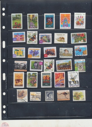 (25 + 5 Bonus) Stamps from Australia,  All Different, Vintage, Used, Cancelled - AUS-123