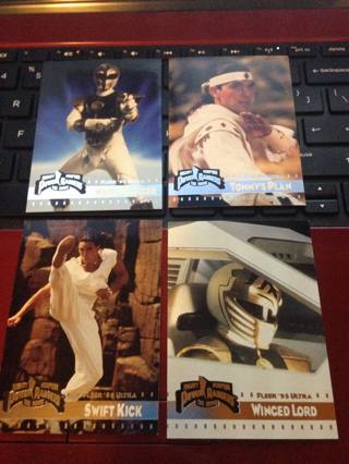 White Ranger Card lot! Lot of 4 Power Rangers the Movie Cards!!