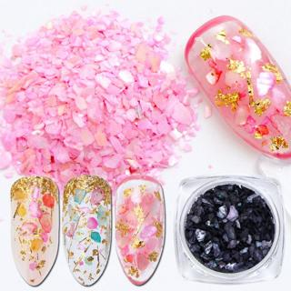 1pcs Mermaid Nail Glitter Flakes Irregular Paillette Broken Shell Sequins Powder Marble Stone Nail