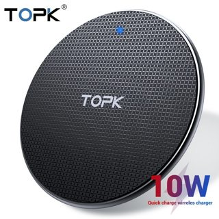 TOPK Wireless Charger for iPhone Xs Max X 8 Plus 10W Fast Charging Pad for Samsung Note 9 Note 8 S10