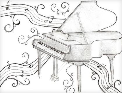 Piano drawing