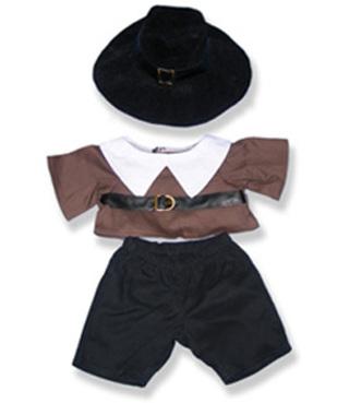 "*NEW* - Dress Your Animal for the Holidays - BOY & GIRL PILGRIM 15"" to 18"" Stuffed Bear or Animal"