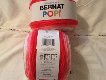 2 Skeins/Balls of Bernat Pop Yarnspirations - pink in color