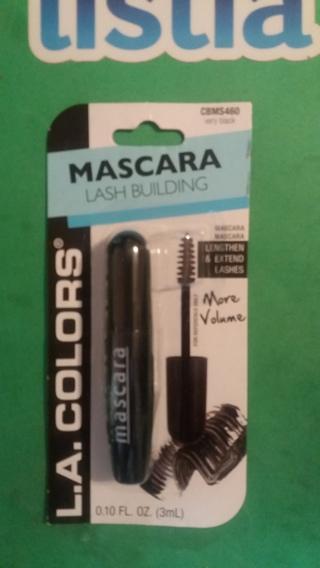 mascara lash building  l.a. colors  very black  free shipping