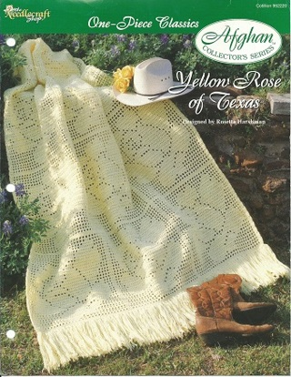 Free Yellow Rose Of Texas Filet Crochet Afghan Pattern Crochet