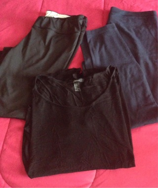 Leggings, Athletic Pants and Top, Large