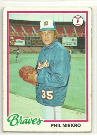 Phil Niekro 1978 Topps #10 Atlanta Braves