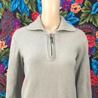 WOMEN'S ARMANI EXCHANGE Wool Pullover Sweater Zipper FREE SHIPPING