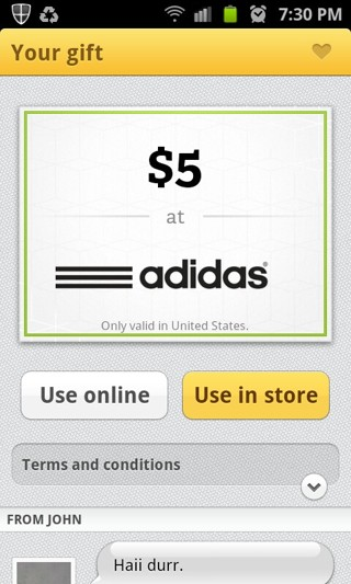 big sale 25000 329f9 Adidas gift card