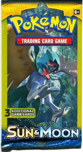 NEW Pokemon XY SUN & MOON Card Pack TCG Pokemon Cards Decidueye Booster Pack TCG