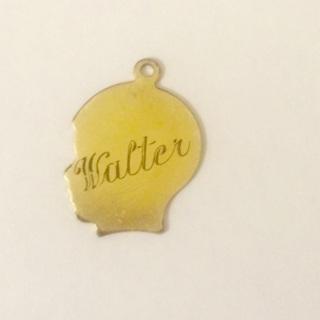 Vtg. 1960s Charm Gold Filled Engraved