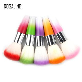 ROSALIND Colorful Nail Tools Legal Brush Remove Dust Powder For Acrylic Nails Nail Art Dust Cleane
