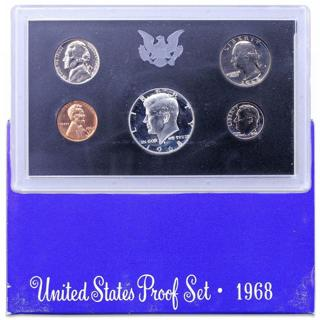 1968 S Proof Set Original Box US Mint 5 Coins
